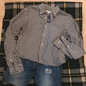 UNIQLO Navy Gingham button down